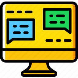 business, chat, internet, marketing, seo, web icon