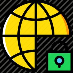 business, internet, lock, marketing, seo, web icon