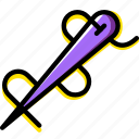 knit, machine, needle, sewing, tailoring icon