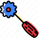 cutting, knit, machine, sewing, tailoring, tool icon