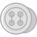buttons, knit, machine, sewing, tailoring icon