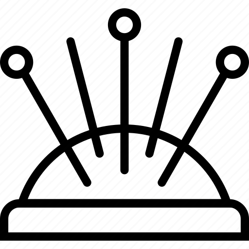 cushion, knit, machine, pin, sewing, tailoring icon