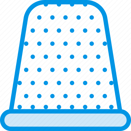 knit, machine, sewing, tailoring, thimble icon
