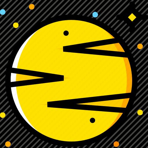 space, universe, venus, yellow icon