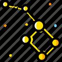 mirror, space, ursa, yellow icon