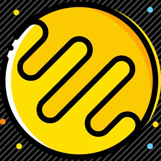 kepler, space, universe, yellow icon