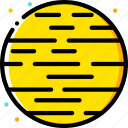 mars, space, universe, yellow icon