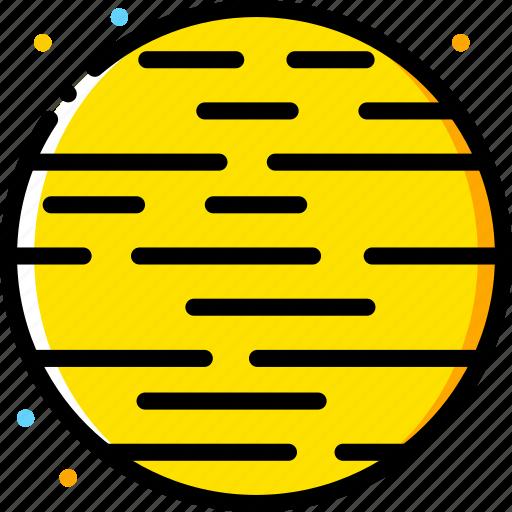 mars, space, universe, yellow icon