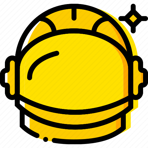 astronaut, space, universe, yellow icon