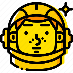 gagarin, space, universe, yellow icon
