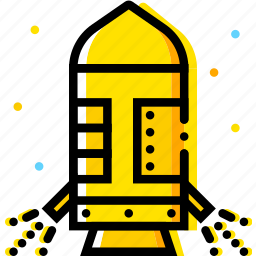 module, space, universe, yellow icon