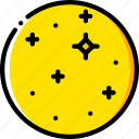 europa, space, universe, yellow icon