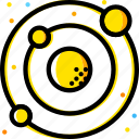 solar, space, system, universe, yellow