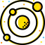 solar, space, system, universe, yellow icon