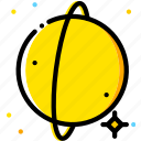space, universe, uranus, yellow icon