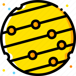 mercury, space, universe, yellow icon