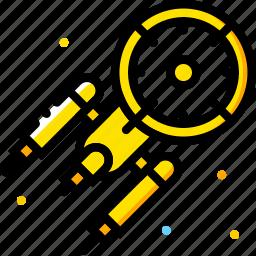 enterprise, space, universe, yellow icon