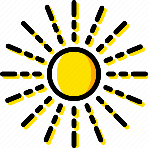 space, sun, universe, yellow icon