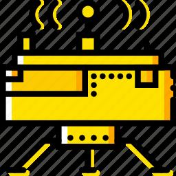 lunar, module, space, universe, yellow icon