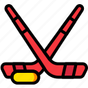 game, hockey, play, sport, sticks icon