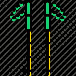 game, hiking, play, sport, sticks icon