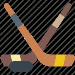 game, hockey, play, sport, sticks icon