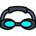 game, goggles, play, sport, swimming icon