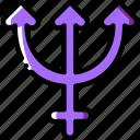 neptune, sign, symbolism, symbols icon