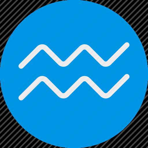 aquarius, sign, symbolism, symbols icon