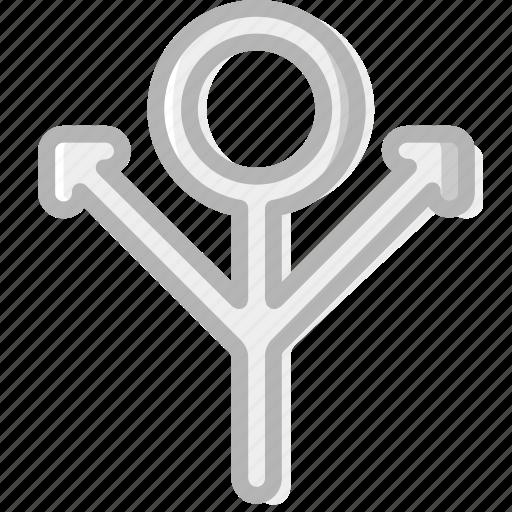 sign, silver, symbolism, symbols icon