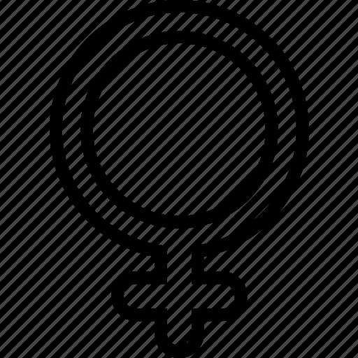 sign, symbolism, venus icon