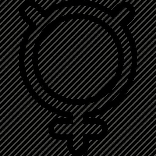 mercury, sign, symbolism icon