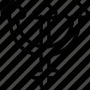 neptune, sign, symbolism icon