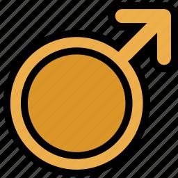 mars, sign, symbolism, symbols icon