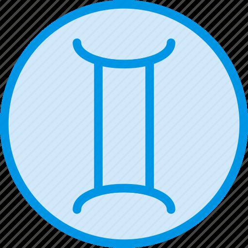 gemini, sign, symbolism, symbols icon