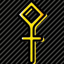 sign, sulphur, symbolism, symbols icon