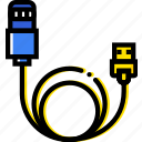 cable, gadget, iphone, device, technology, charging icon