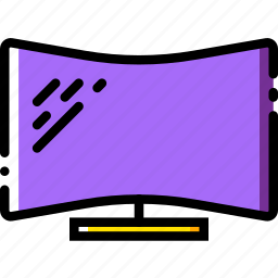 curved, device, display, gadget, technology icon