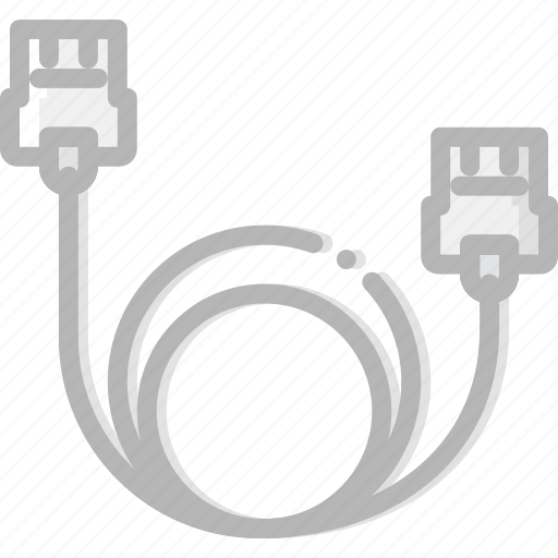 cable, device, ethernet, gadget, technology icon