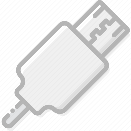 cable, device, gadget, technology, usb icon