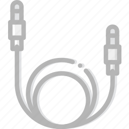 cable, device, gadget, sound, technology icon