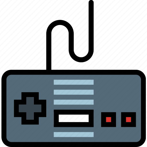 controller, device, gadget, nes, technology icon