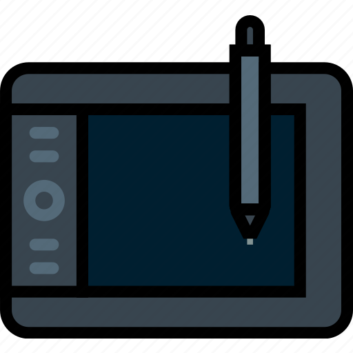 device, gadget, graphic, intuos, tablet, technology icon