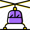 helicopter, transport, vehicle icon