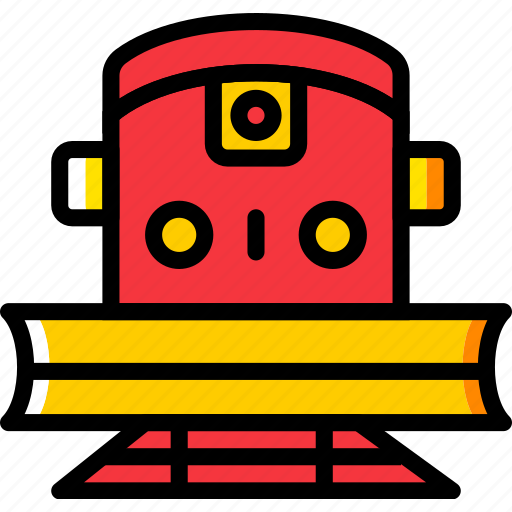 plower, train, transport, vehicle icon