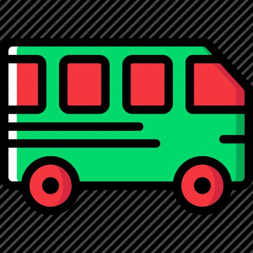 bus, transport, vehicle icon