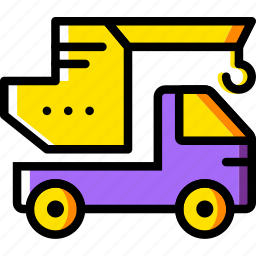 crane, transport, vehicle icon