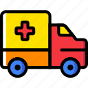 ambulance, transport, vehicle icon