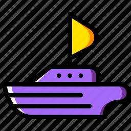 sailing, ship, transport, vehicle icon