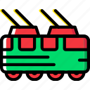 tram, transport, vehicle icon